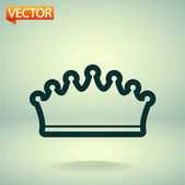 Crown icon — Vector de stock