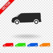 Vrachtwagen pictogram ontwerp — Stockvector
