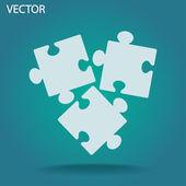 значок кусок головоломки — Cтоковый вектор
