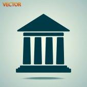 Historical building icon — Stock Vector