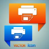 Printer icon design — Stock Vector