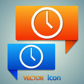 Clock icon design — Vector de stock