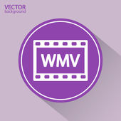Wmv file icon — Stok Vektör