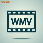 WMV Video icon design — Stock Vector