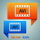 AVI Video icon design — Stock Vector
