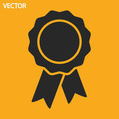 Badge with ribbons icon — Stock Vector