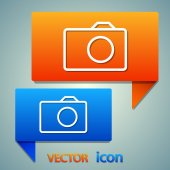 Camera flat icon — Stock Vector