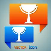 Winner, trophy symbol icon — Stock Vector