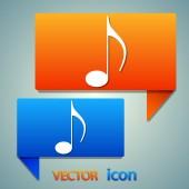 Music icon design — Stock Vector