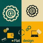 Ikona internet e-mail — Wektor stockowy