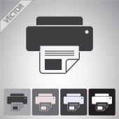 Printer icon design — Stock Vector