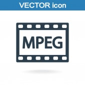 MPEG  video icon — Vetorial Stock