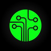 Circuit board, technology icon — Stock Vector