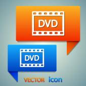 DVD Video icon design — Stock Vector