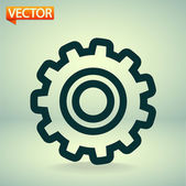 Gears icon — Stock Vector