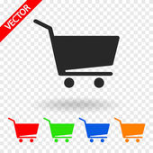 Warenkorb Warenkorb-Symbol — Stockvektor