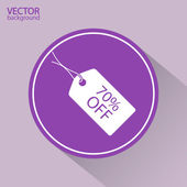 70 percent's OFF tag icon — Stock Vector