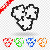 Puzzle piece icon — Stock Vector