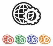 Globe Icon Flat  design — Stock Vector