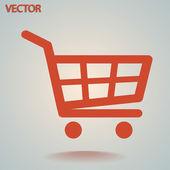 Icona di carrello dello shopping — Vettoriale Stock