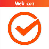 Tick icon, vector illustration — Stock Vector