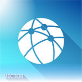 Global technology or social network icon — Stock Vector