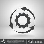 Ustawienie parametrów, okrągłe strzałki ikony — Wektor stockowy