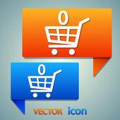 Shopping basket icon — Stock Vector