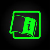 Open book icon — Stock Vector