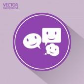 Sorria falante ícone de bolha — Vetor de Stock