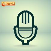 Microphone icon — Vettoriale Stock