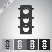 Traffic lights icon set — Stock Vector