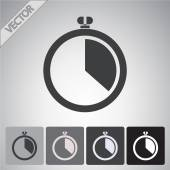 Stopwatch icon design — Stockvector