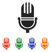 Microphone icon design — Stockvector