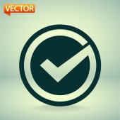 Confirm icon. Flat design style — Stock Vector