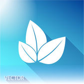 Leaf icon. Flat design style — Stock Vector