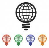 全球的灯泡图标 — 图库矢量图片