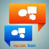 Comic speech bubble icon — Stock Vector