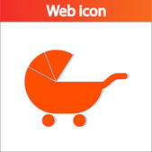 Baby Carriage Silhouette icon — Stock Vector