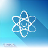 Atom icon. flat design — Stock Vector