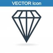 Icône de diamant — Vecteur