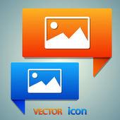 Photograph icon design — Stock Vector