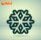 Snowflake icon — Stock Vector