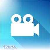 Video camera icon — Stock Vector