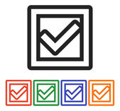 Confirm set icon — Vector de stock