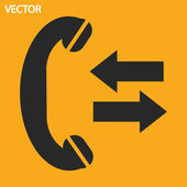 Telefoon, platte pictogram — Stockvector