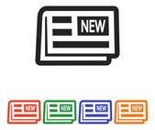 Newspaper icon design — Stock Vector