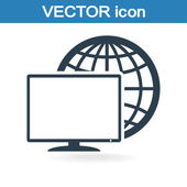 Ikonę monitora — Wektor stockowy