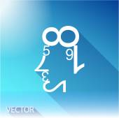 Human face of the data figures — Stock Vector