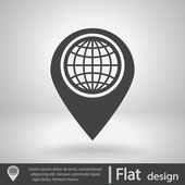 Map pointer flat icon — Stock Vector